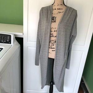 Poof! gray cardigan